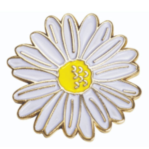 Daisy Enamel Pin Badge