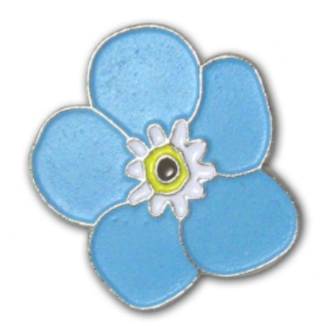Forget Me Not Pin Badge