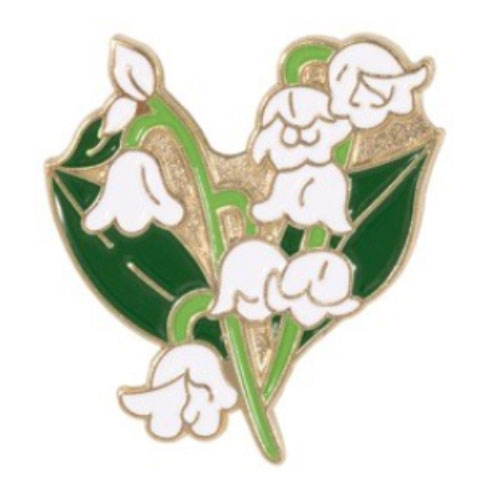 Lily enamel pin badge