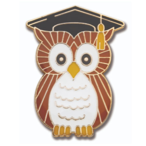 Wise Owl Pin Badge