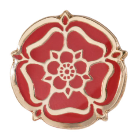 Red Rose Pin Badge