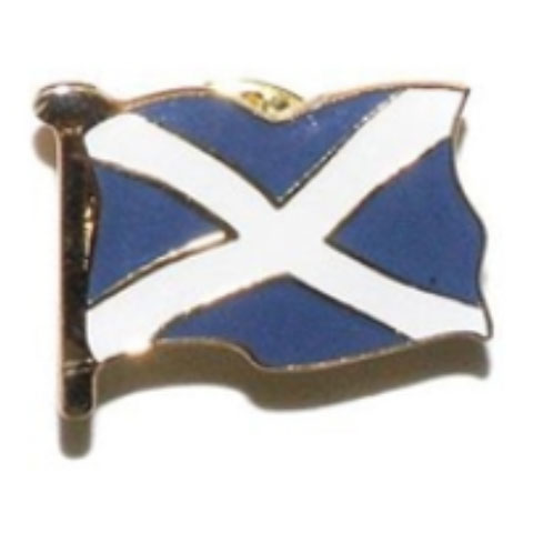 Scottish Saltire Flag Pin Badge