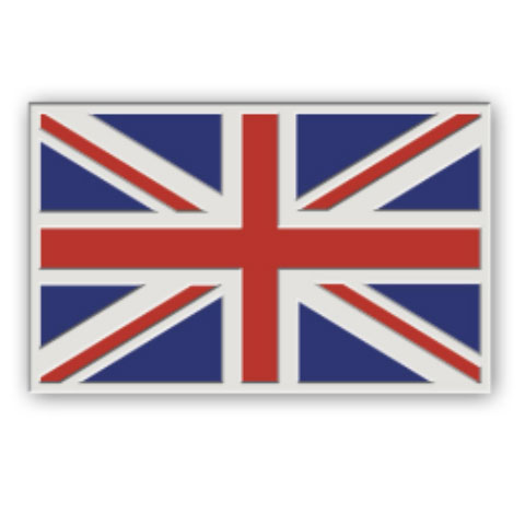 Union Jack 10mm pin badge